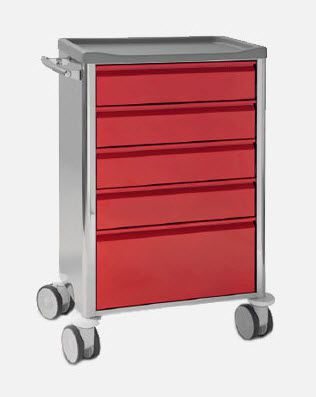 Dressing trolley / stainless steel CR.1589 JMS Mobiliario Hospitalar