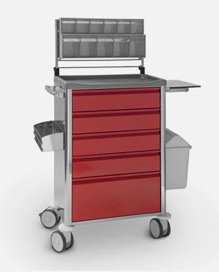Anesthesia trolley / with shelf unit / stainless steel CR.1589.I JMS Mobiliario Hospitalar