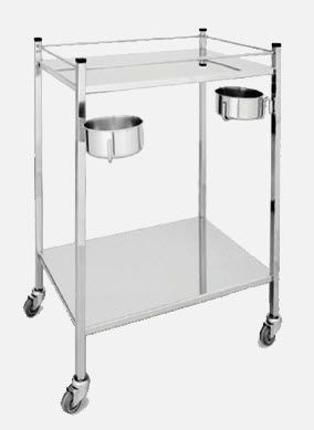 Dressing trolley / stainless steel / 2-tray ME.1840 JMS Mobiliario Hospitalar