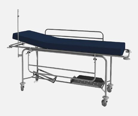 Transport stretcher trolley / mechanical / 2-section MA.1725 JMS Mobiliario Hospitalar