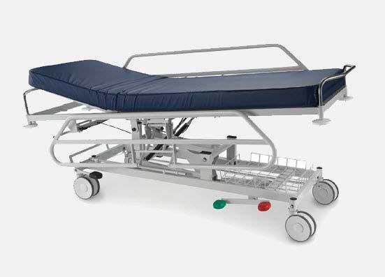 Transport stretcher trolley / height-adjustable / hydraulic / 2-section mA.1790 JMS Mobiliario Hospitalar