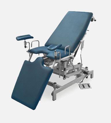 Gynecological examination chair / electrical / height-adjustable / on casters DV.1675 JMS Mobiliario Hospitalar