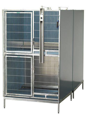 Double deck kennel cage T-Kennel Quad Shor-Line
