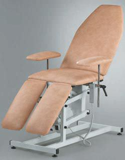 Podiatry examination chair / electro-pneumatic / height-adjustable / 3-section E-20 EYMASA