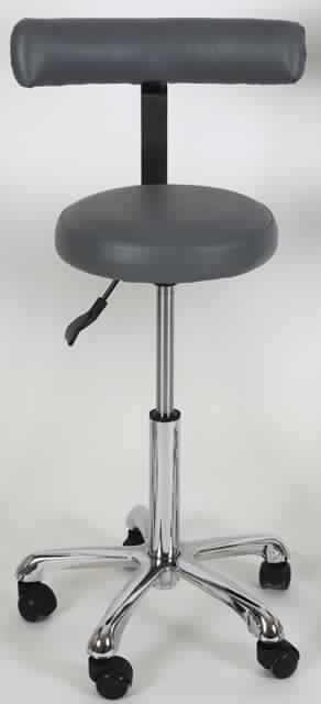 Medical stool / on casters / height-adjustable / with backrest Medical Experts Group