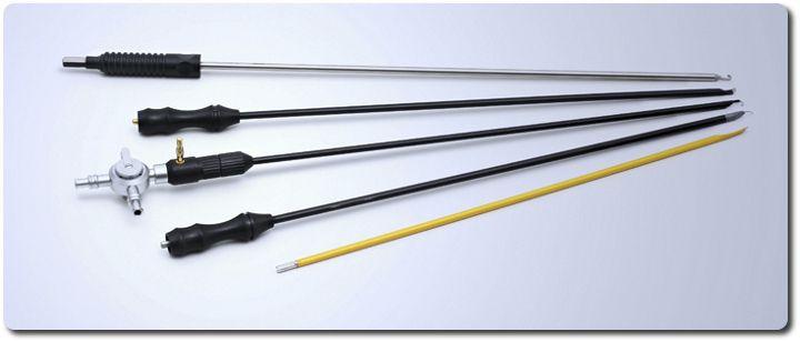 Hook electrode / laparoscopic / monopolar / coagulation Ackermann Instrumente