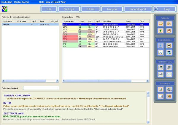 Viewing software / diagnostic / cardiology / medical CardioDM-06® Medical Computer Systems