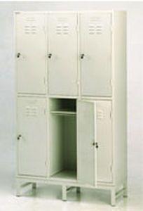 Locker room cabinet / for healthcare facilities / 6-door 32504 PT. Mega Andalan Kalasan