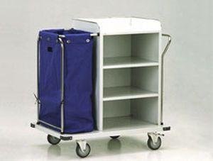 Clean linen trolley / dirty linen / with shelf / 1-bag 35302 A PT. Mega Andalan Kalasan
