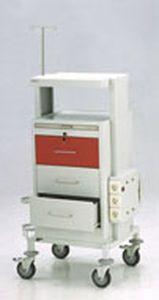 Emergency trolley / with shelf unit / with IV pole / with oxygen cylinder holder 36603 PT. Mega Andalan Kalasan