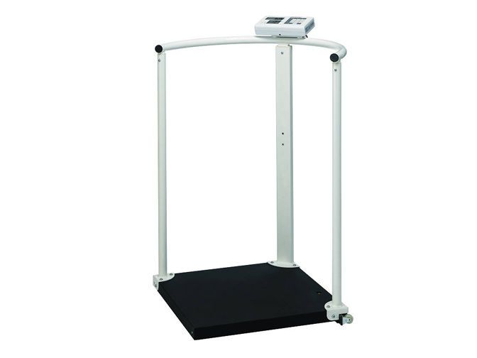 Electronic patient weighing scale / with safety handrail / with BMI calculation 300 kg   MS2504 Charder Electronic