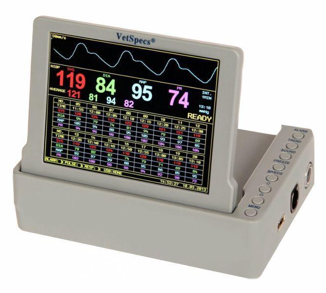 Digital veterinary electrocardiograph / 6-channel / with NIBP monitor VETSPECS® EXAM ECG-BP VetSpecs