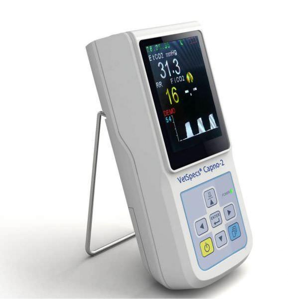 Carbon dioxide monitor hand-held VetSpecs® Capno-2 VetSpecs
