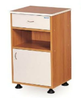 Bedside table / on casters K076 - B Kenmak Hospital Furnitures