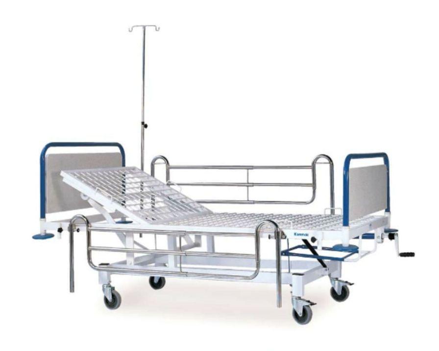 Hospital bed / Trendelenburg / on casters / 2 sections K 008 - A Kenmak Hospital Furnitures
