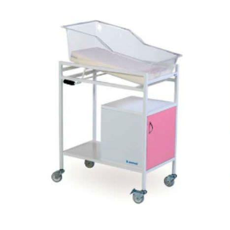 Transparent hospital baby bassinet K022 Kenmak Hospital Furnitures