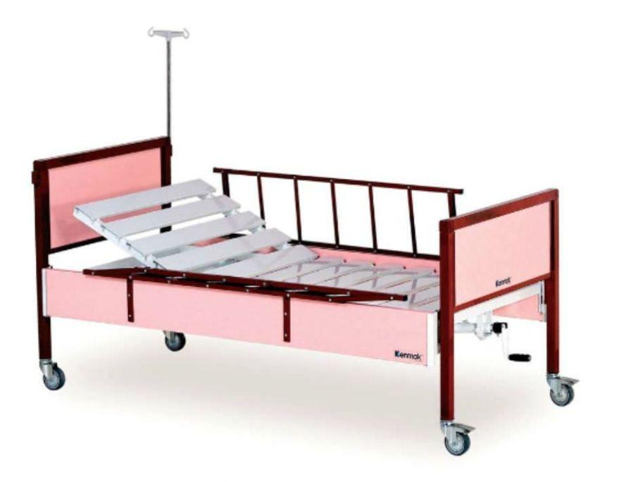 Hospital bed / mechanical / on casters / 2 sections K008 - T Kenmak Hospital Furnitures