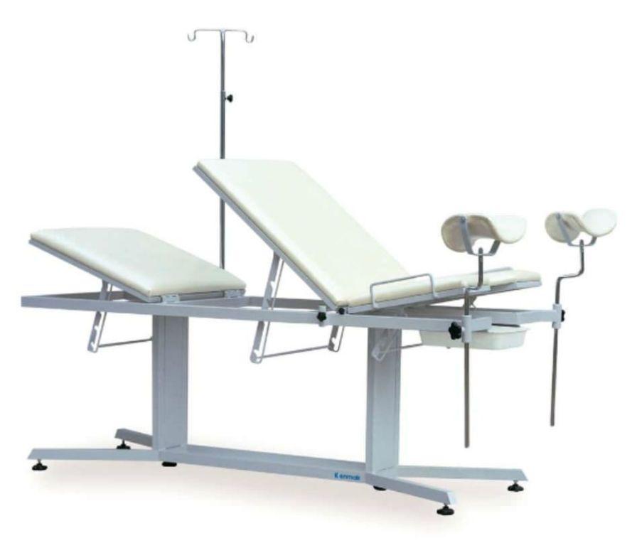 Gynecological examination table / mechanical / height-adjustable K018 Kenmak Hospital Furnitures