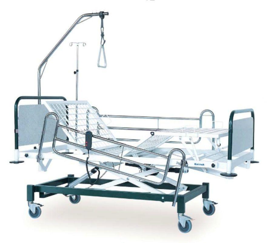 Hospital bed / electrical / on casters / height-adjustable K012 - E Kenmak Hospital Furnitures