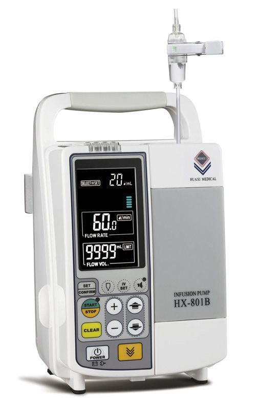 Volumetric infusion pump / 1 channel / PCA 1 - 999.9 mL/h | HX-801B Guangzhou Huaxi
