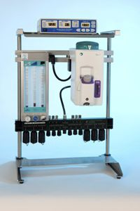 Veterinary anesthesia workstation / portable / for medical research 43001xx MINERVE