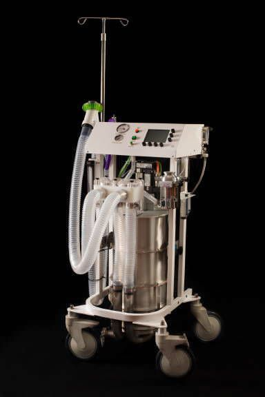 Anaesthesia workstation with gas blender / veterinary Tafonius Junior Hallowell EMC
