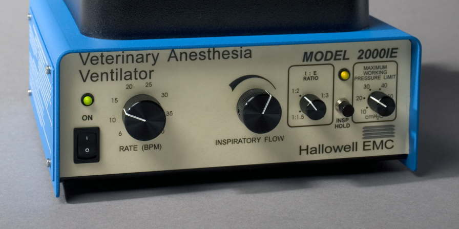 Anesthesia ventilator / veterinary Model 2000IE Hallowell EMC