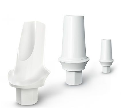 Straight implant abutment / angulated / zirconium dioxide White Beauty Medical Instinct Deutschland GmbH