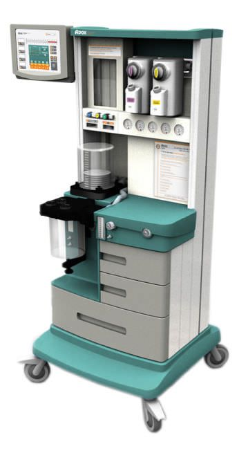 Anesthesia workstation with gas blender / non-magnetic MRI ADOX S.A.