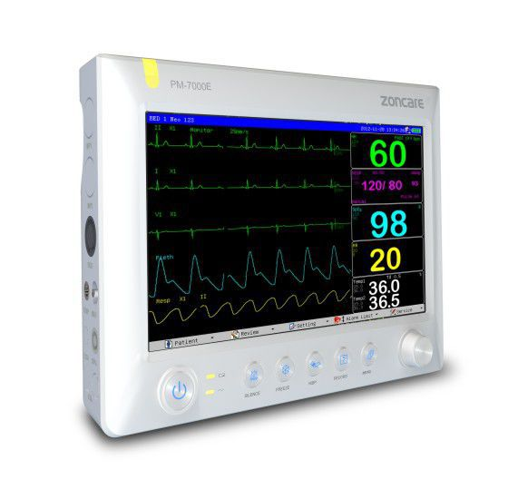 "Compact multi-parameter monitor 10.1"" TFT   PM-7000E Zoncare Electronics"