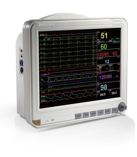 """Compact multi-parameter monitor / transport / wireless 15"""" TFT   PM-7000G Zoncare Electronics"""
