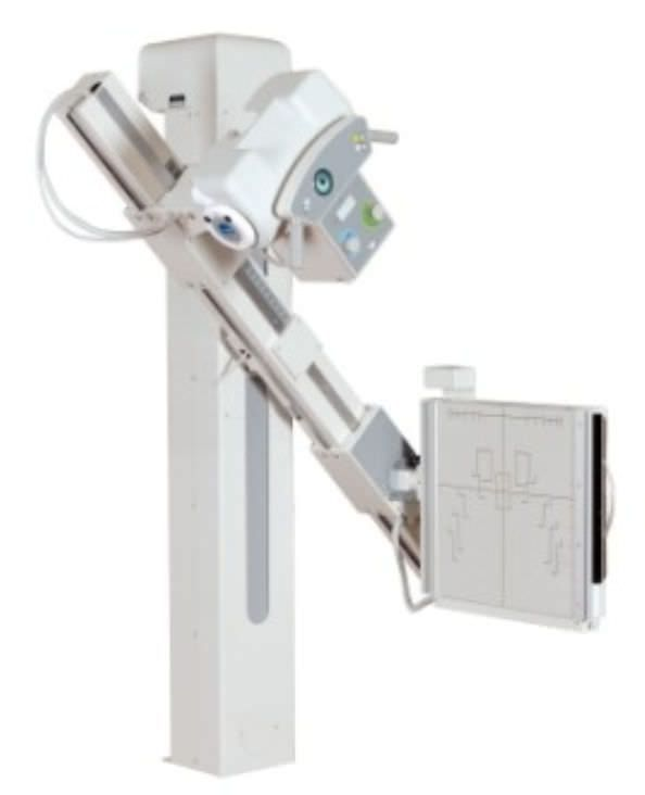 Radiography system (X-ray radiology) / analog / for multipurpose radiography / with swiveling tube-stand POLISTAT M General Medical Merate