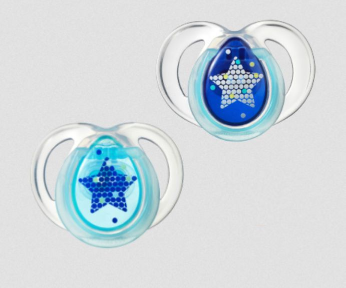 Silicone infant pacifier Night Time Soothers tommee tippee
