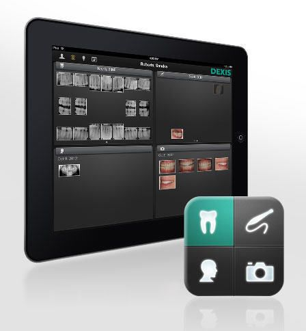 Treatment plan evaluation iOS application / for communication / for dental imaging DEXIS go DEXIS