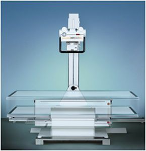 Height-adjustable radiography table / electrical / with tube-stand Moviplan Villa Sistemi Medicali
