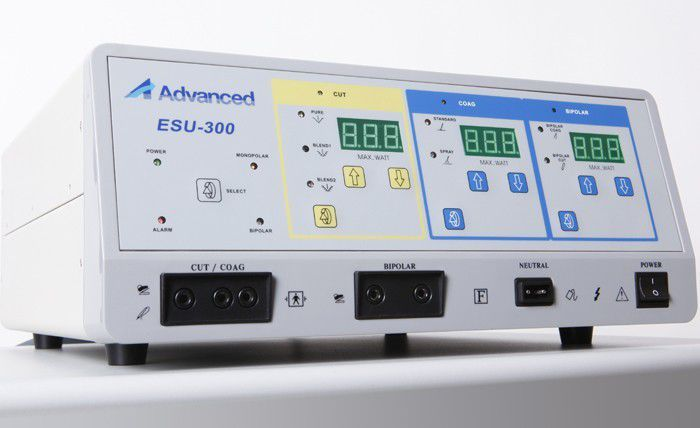 Electrosurgical and ultrasonic cutting and coagulation generator (thermofusion) ESU-300 Advanced Instrumentations