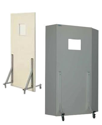 X-ray radiation protective shield / mobile / with window P-PM Cablas