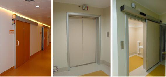 Sliding door / radiation shielding / hardwood Cablas