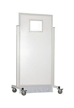 X-ray radiation protective shield / mobile / with window Ray-Bar Engineering Corporation