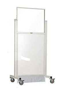 X-ray radiation protective shield / mobile / with window 1.58mm Ray-Bar Engineering Corporation