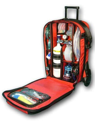 Emergency medical bag / with trolley / back TROLLEY Teutotechnik