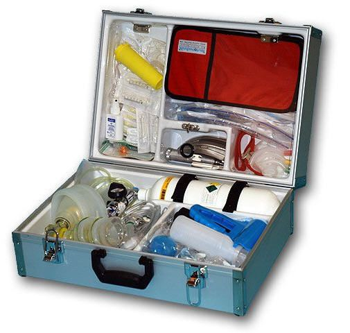 Cardiopulmonary resuscitation medical kit EUROSAFE III Teutotechnik