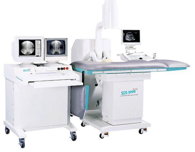 Extracorporeal lithotripter / with lithotripsy table / with C-arm SDS 5000 GEMSS Medical Systems