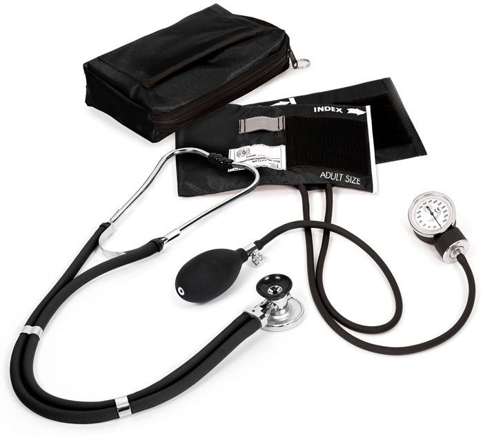 Cuff-mounted sphygmomanometer / with stethoscope A2 Prestige Medical