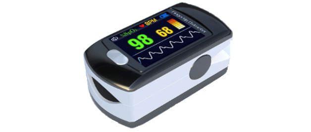Compact pulse oximeter / fingertip / wireless SHL Telemedicine