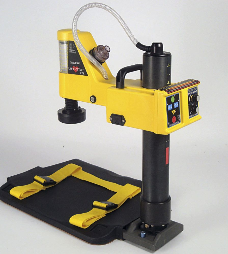 Pneumatic ventilator / emergency / transport / with chest compressor LIFE-STAT - MODEL 1008 Michigan Instruments