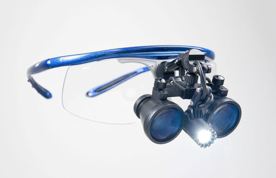 Magnifying loupe with headlamp / with frames MiniScope/MaxiLux LED Hogies