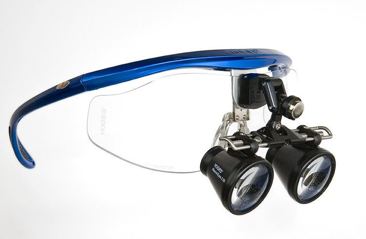Magnifying loupe with frames MaximEyes Galilean 2.5X Hogies