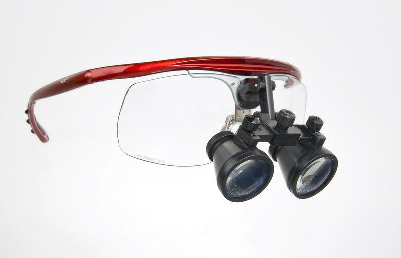 Magnifying loupe with frames MiniScope 2.5X Hogies