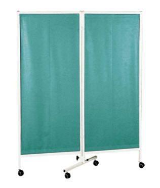 Hospital screen / on casters / 2-panel 11402 CARINA